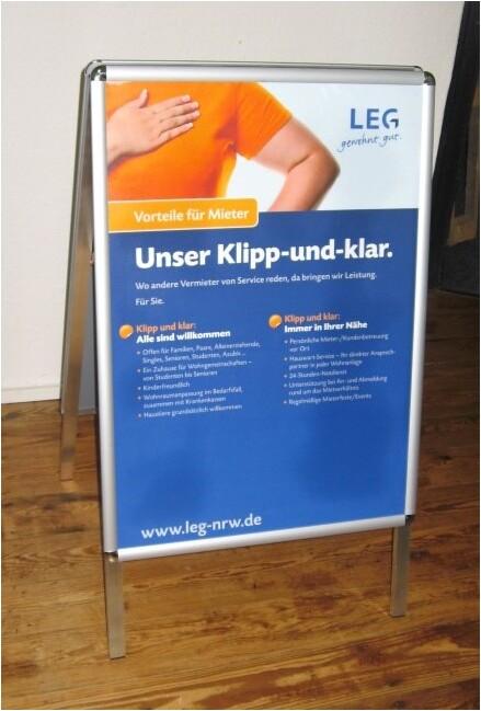 Kundenstopper DIN A2 / Plakatständer